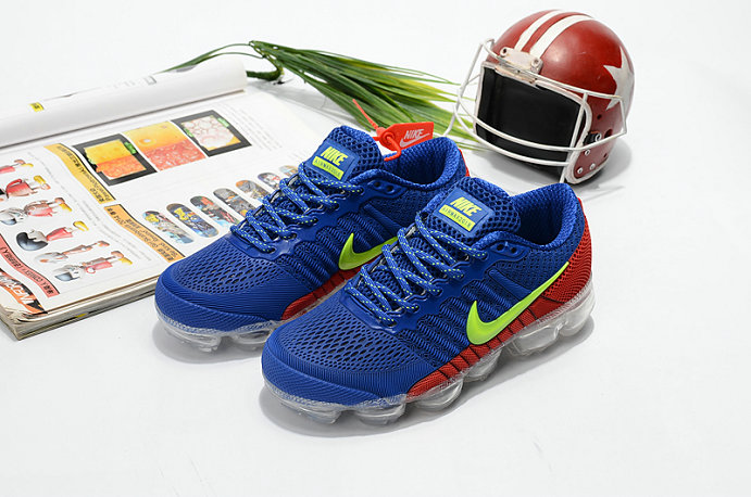 Cheapest Wholesale Sale Nike Air VaporMax For Kids Blue Green Red