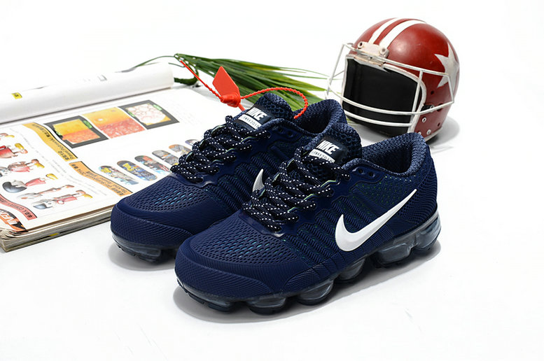 Cheapest Wholesale Sale Nike Air VaporMax For Kids Navy Blue White