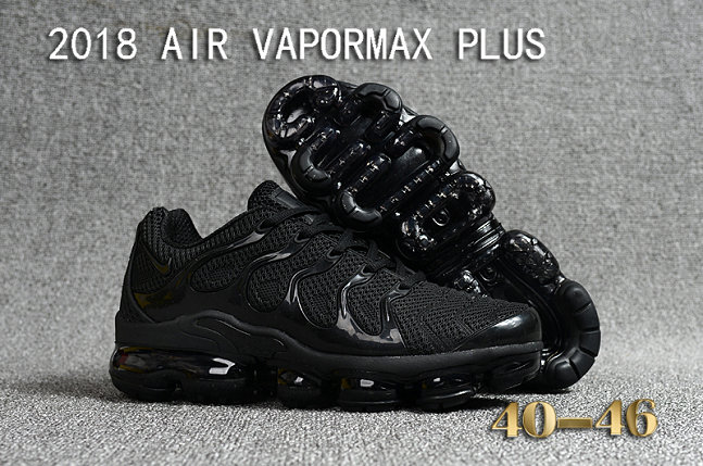 Cheapest Wholesale Sale Nike Air VaporMax Plus Mens All Black