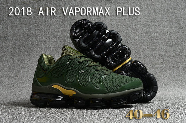 Cheapest Wholesale Sale Nike Air VaporMax Plus Mens Army Green Gold