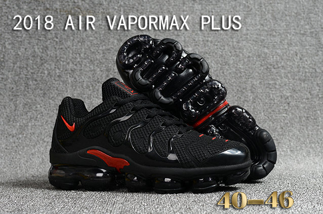 Cheapest Wholesale Sale Nike Air VaporMax Plus Mens Black Red