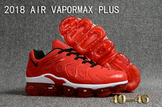 Cheapest Wholesale Sale Nike Air VaporMax Plus Mens China Red White Black