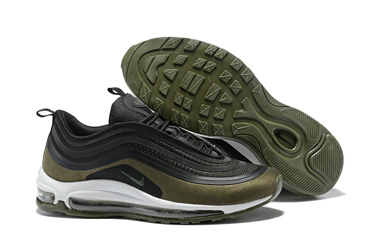 Cheapest Wholesale Sale Nike Air Maxs 97 Mens Ultra 17 SE Flyknit Army Green Black