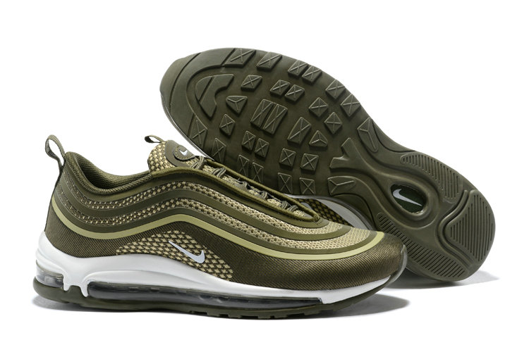 Cheapest Wholesale Sale Nike Air Maxs 97 Mens Ultra 17 SE Flyknit Army Green White