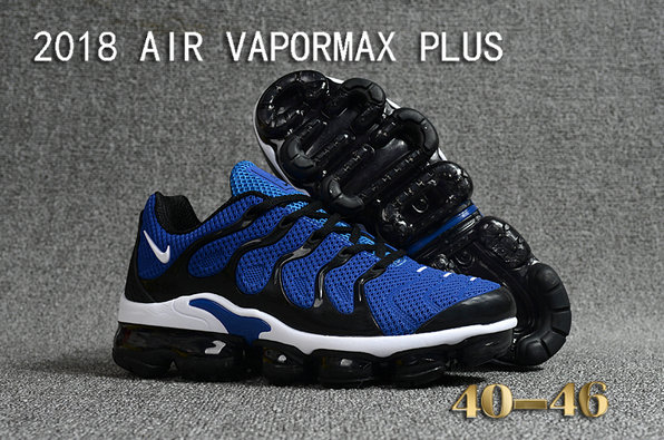 Cheapest Wholesale Sale Nike Air VaporMax Plus Mens Royal Blue Black White