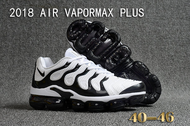Cheapest Wholesale Sale Nike Air VaporMax Plus Mens White Black