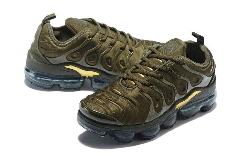 4cb1d38460d3 ... Cheapest Wholesale Sale Nike Air VaporMax Plus Womens Gold Army Green  ...