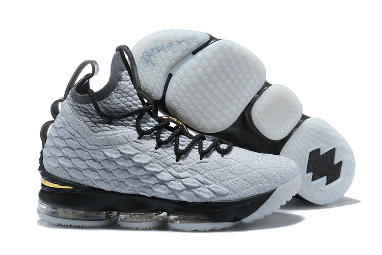 Cheapest Wholesale Sale Nike Lebron 15 (XV) Grey Gold Black For Mens