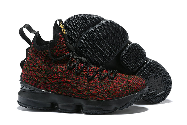 Cheapest Wholesale Sale Nike Lebron 15 (XV) Red Black Gold For Mens