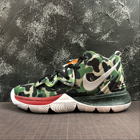 Wholesale Cheap 2019 Cheap Bape X Nike Kyrie 5 PE Camo Green White AO2919-200