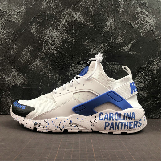 Wholesale Cheap 2019 Cheap NIKE AIR HUARACHE ULTRA 847568 013 WHITE ROYAL BLUE BLACK
