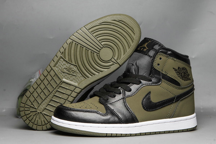 Wholesale 2019 Cheap NIKE AIR JORDAN 1 MID OLIVE CANVAS 554724 301