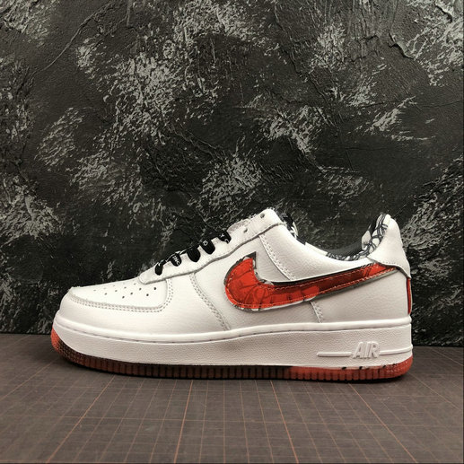 Wholesale Cheap 2019 Cheap Nike Air Force 1 07 LV8 AF1 Only Once White Red Men Shoes Sneakers CJ2826-178