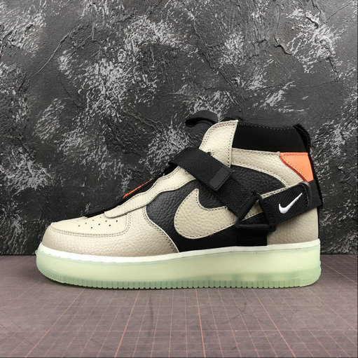 Wholesale Cheap 2019 Cheap Nike Air Force 1 Utility Mid Frosted Spruce green black AQ9758-300