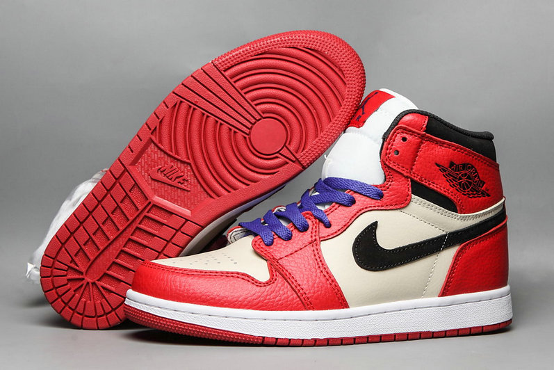 Wholesale 2019 Cheap Nike Air Jordan 1 Mid University Red White Purple