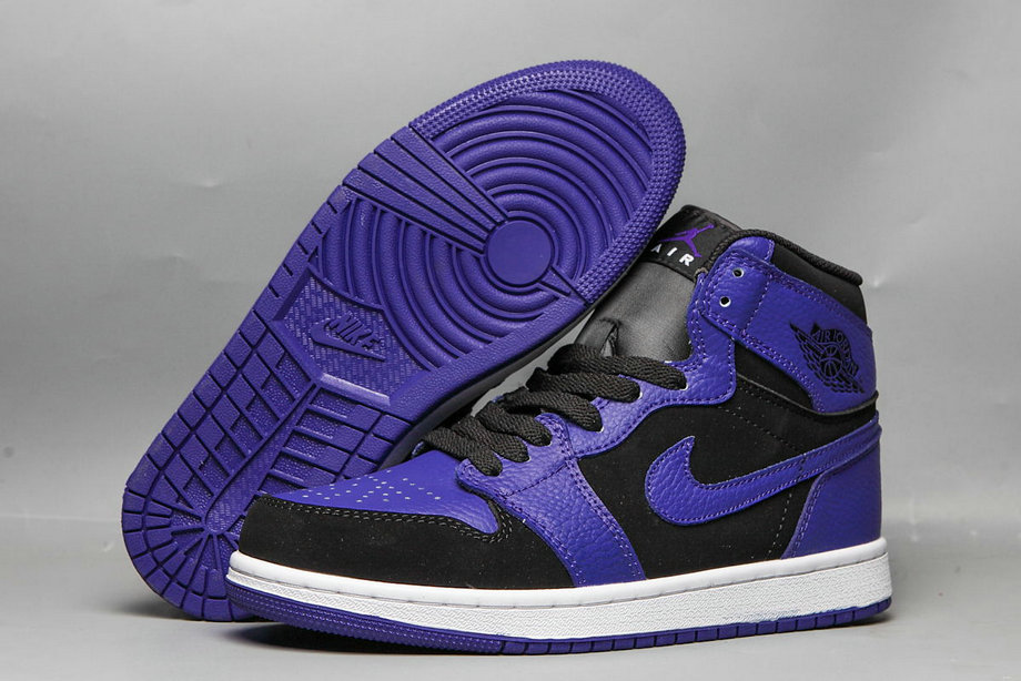 Wholesale 2019 Cheap Nike Air Jordan 1 purple black) 554724-051