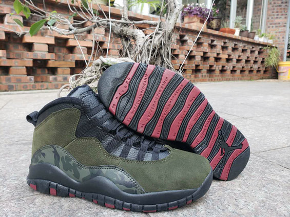 Wholesale Cheap 2019 Cheap Nike Air Jordan 10 Olive Camouflage