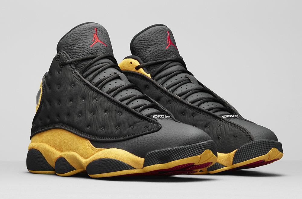 Wholesale 2019 Cheap Nike Air Jordan 13 Carmelo Anthony Class of 2002 414571-035 Black University Red-University Gold 414571-035