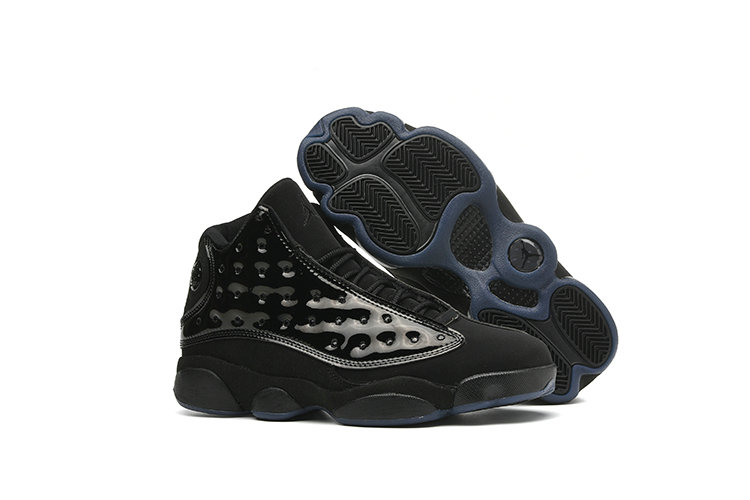 Wholesale Cheap 2019 Cheap Nike Air Jordan 13 Retro Black-Black 414571-012