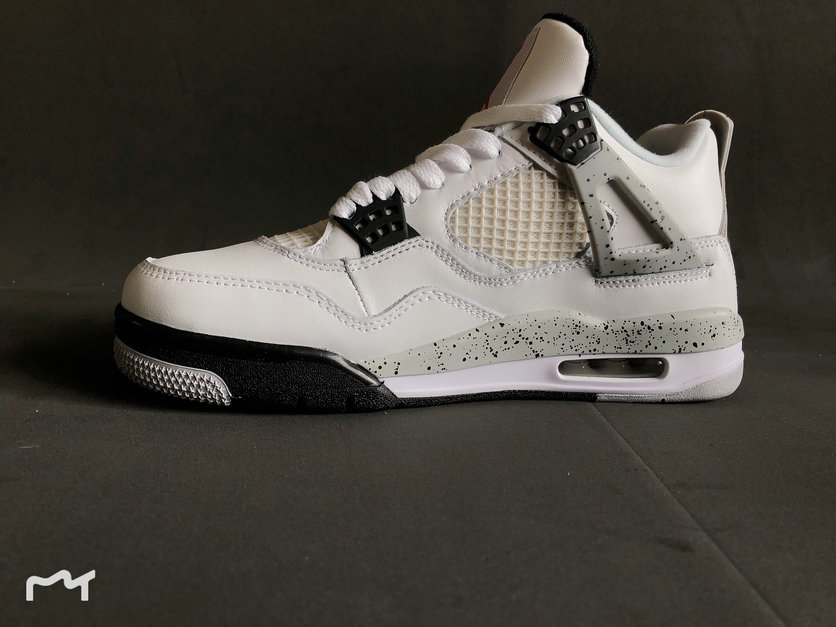 newest fd336 dcfec Wholesale 2019 Cheap Nike Air Jordan 4 Retro White Cement Fire Red Grey  840606 192