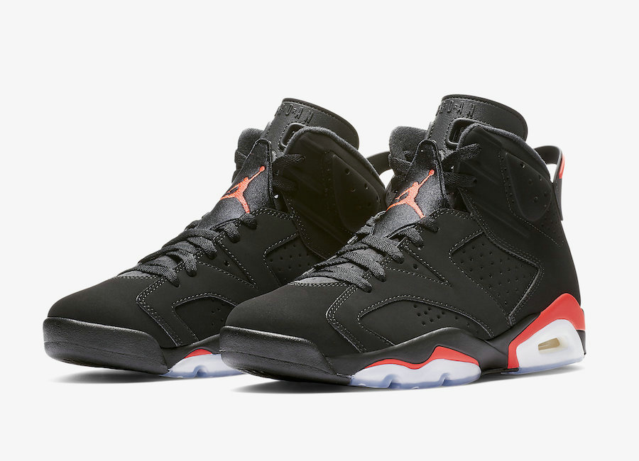 Wholesale 2019 Cheap Nike Air Jordan 6 384664-060 Black Infrared