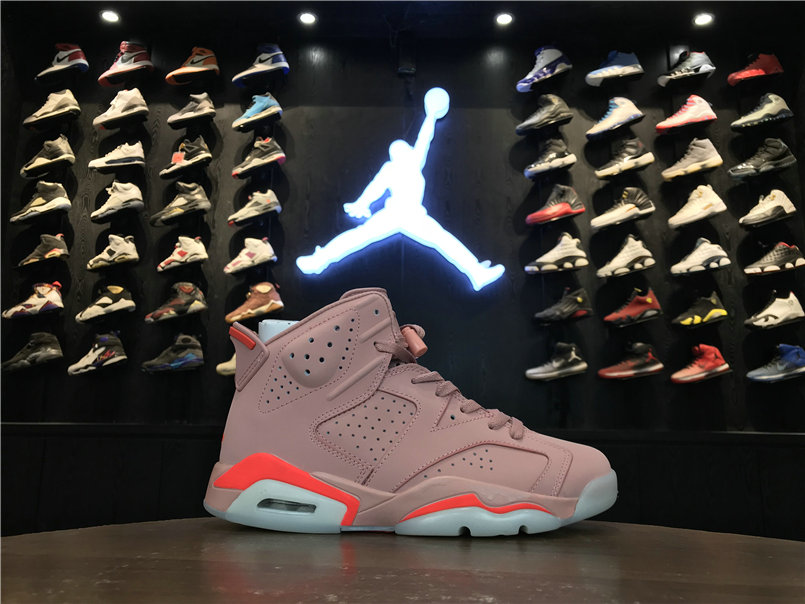 Wholesale 2019 Cheap Nike Air Jordan 6 Millennial Pink 384664-031