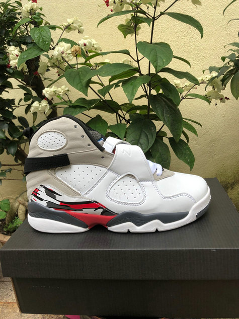 Wholesale Cheap 2019 Cheap Nike Air Jordan 8 White Gym Red-Black-Wolf Grey 305381-104
