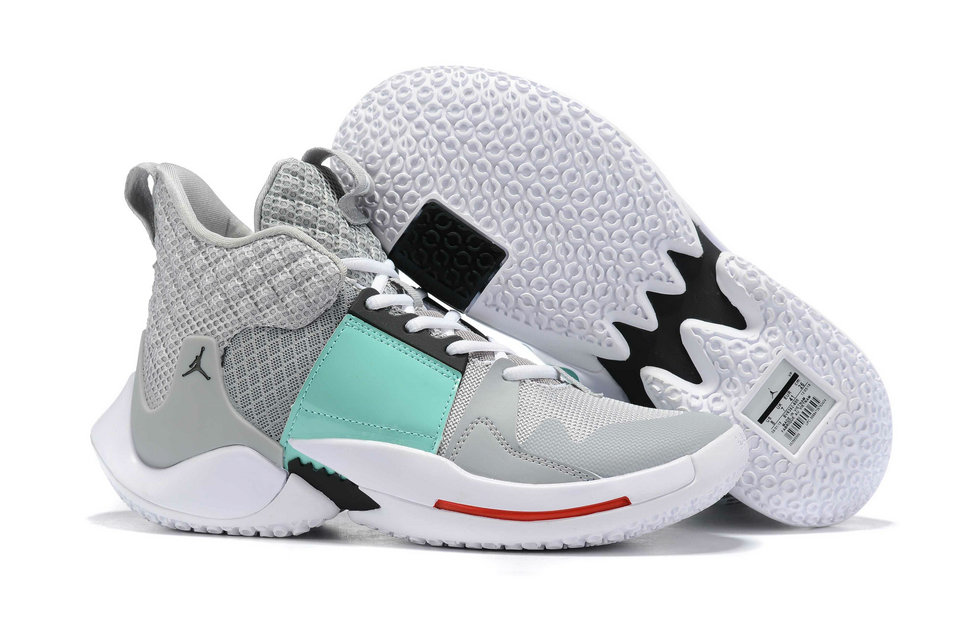 Wholesale Cheap 2019 Cheap Nike Air Jordan Mens Why Not Zer0.2 Basketball Shoes Aqua Green Grey