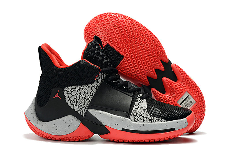 Wholesale Cheap 2019 Cheap Nike Air Jordan Mens Why Not Zer0.2 Basketball Shoes Black Red Grey