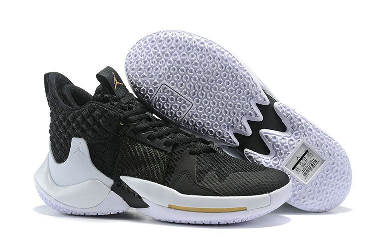 Wholesale Cheap 2019 Cheap Nike Air Jordan Mens Why Not Zer0.2 Basketball Shoes Black White Gold