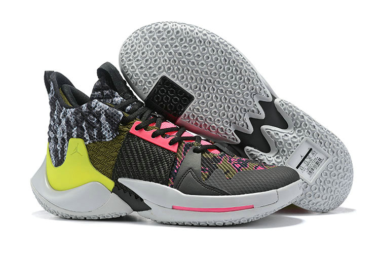 Wholesale Cheap 2019 Cheap Nike Air Jordan Mens Why Not Zer0.2 Basketball Shoes Light Smoke Grey Black-Cyber-Hyper Pink