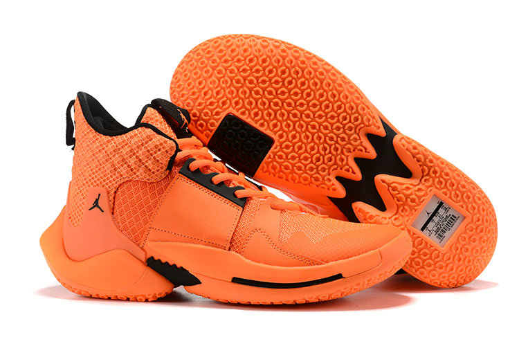 Wholesale Cheap 2019 Cheap Nike Air Jordan Mens Why Not Zer0.2 Basketball Shoes Orange Black