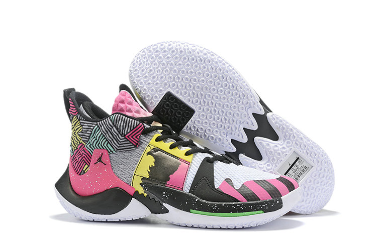 Wholesale Cheap 2019 Cheap Nike Air Jordan Mens Why Not Zer0.2 Basketball Shoes Pink Black Yellow Green White