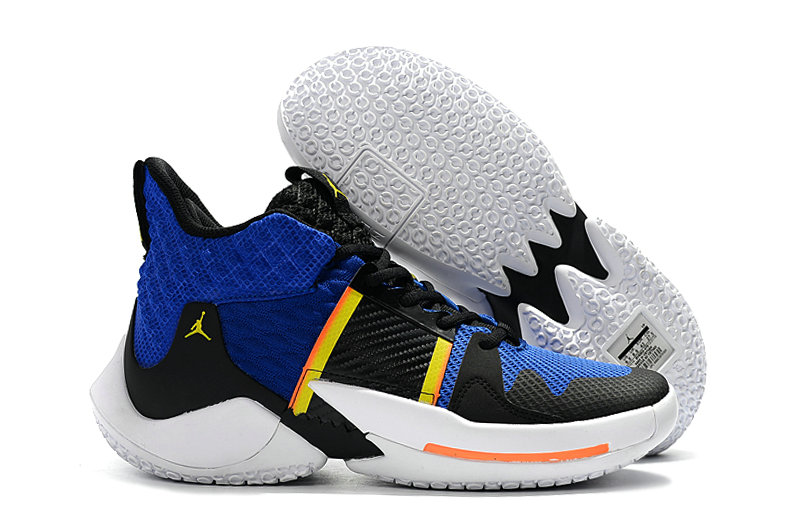 Wholesale Cheap 2019 Cheap Nike Air Jordan Mens Why Not Zer0.2 Basketball Shoes Royal Blue Yellow White Black