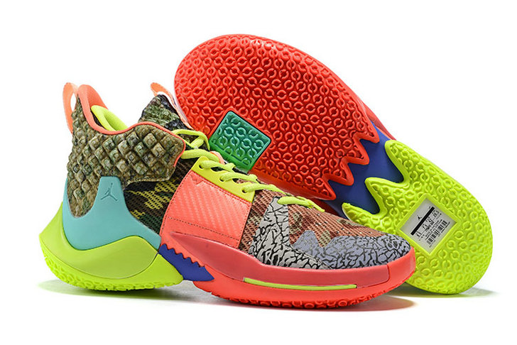 Wholesale Cheap 2019 Cheap Nike Air Jordan Why Not Zer0.2 All Star Camo Green Hyper Turquoise-Volt-Infrared