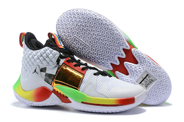 Wholesale Cheap 2019 Cheap Nike Air Jordan Why Not Zer0.2 White Multi-Color