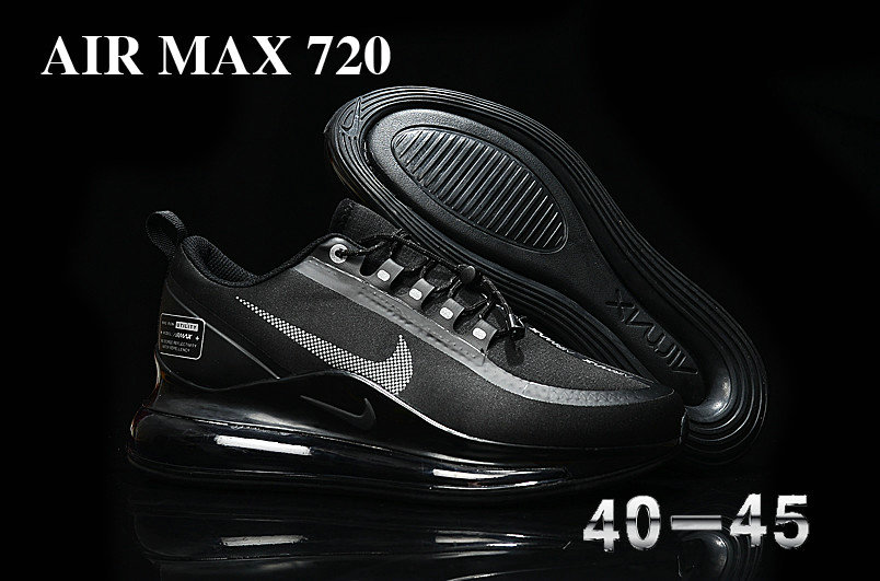 Wholesale Cheap 2019 Cheap Nike Air Max 720 KPU Black