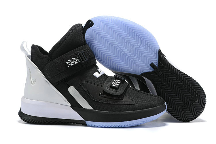 Wholesale Cheap 2019 Cheap Nike Air Zoon Lebron Soldier 13 XIII Black White