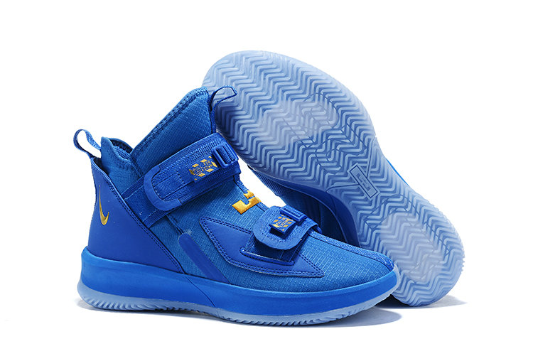 Wholesale Cheap 2019 Cheap Nike Air Zoon Lebron Soldier 13 XIII Gold Royal Blue
