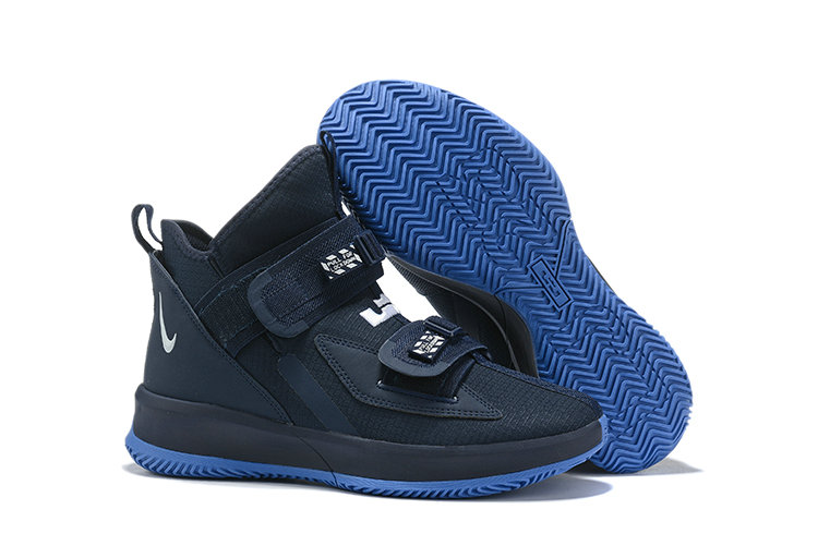 Wholesale Cheap 2019 Cheap Nike Air Zoon Lebron Soldier 13 XIII Navy Blue