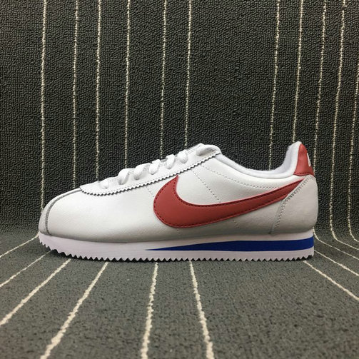 Wholesale Cheap 2019 Cheap Nike Classic Cortez SE Forrest Gump White Varsity Red-Varsity Royal 902801-100