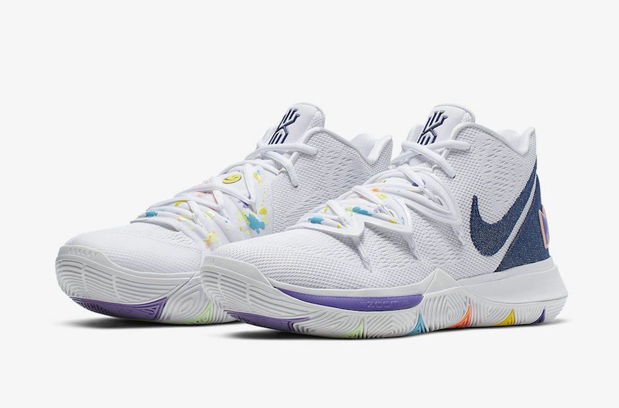 Wholesale Cheap 2019 Cheap Nike Kyrie 5 Have A Nike Day White Deep Royal-Glacier Blue AO2919-101