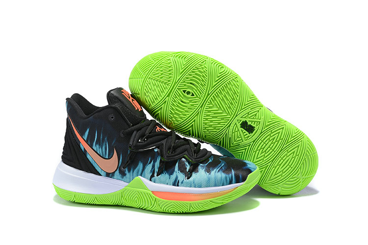Wholesale Cheap 2019 Cheap Nike Kyrie Irving 5 V Fire Orange Black Blue Green
