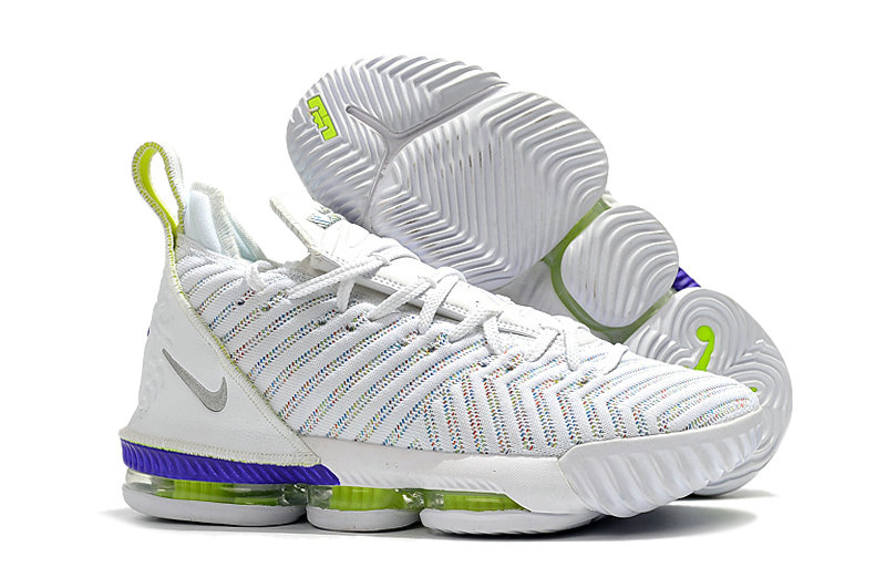 Wholesale Cheap 2019 Cheap Nike LeBron 16 Buzz Lightyear AO2588-102 White-Multi-Color-Hyper Grape-Volt