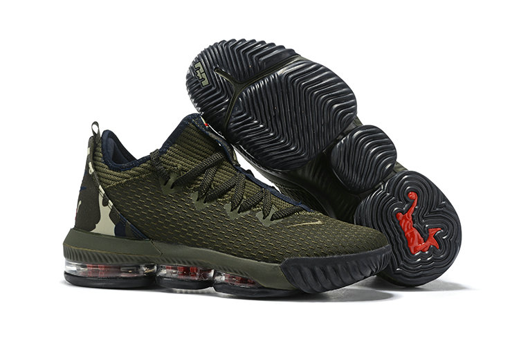 Wholesale Cheap 2019 Cheap Nike LeBron 16 Low Cargo Khaki Black-Neutral Olive CI2668-300