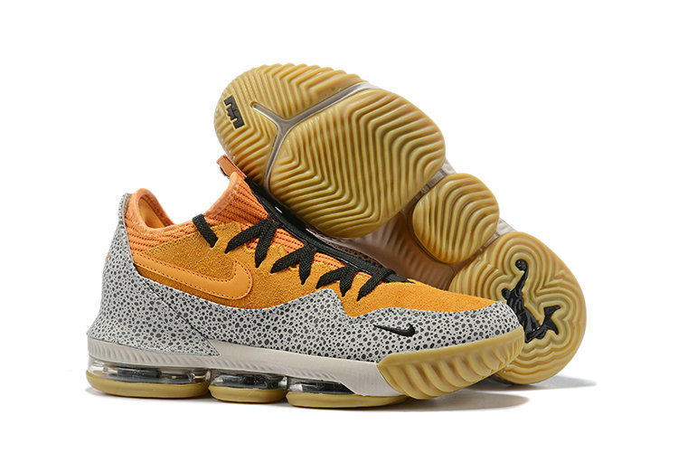 Wholesale Cheap 2019 Cheap Nike LeBron 16 Low Safari Kumquat Black CI3358-800