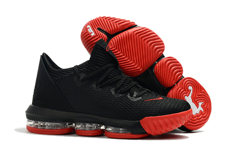 Wholesale Cheap 2019 Cheap Nike LeBron 16 Low University Red Black