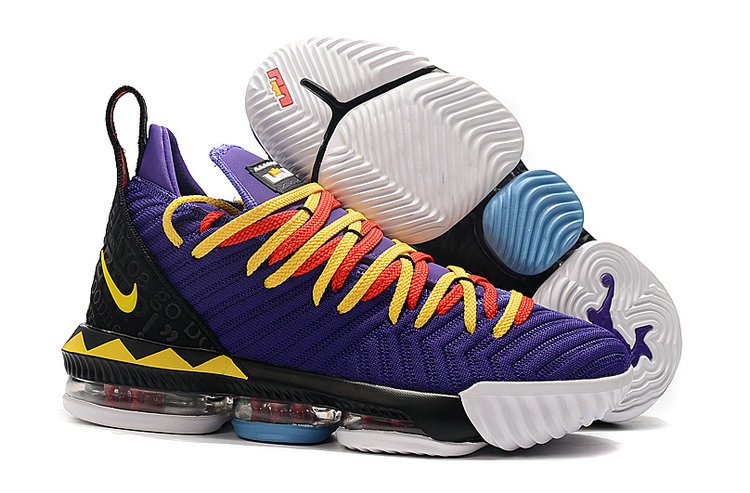 Wholesale Cheap 2019 Cheap Nike LeBron 16 Martin Court Purple Tour Yellow CI1520-500