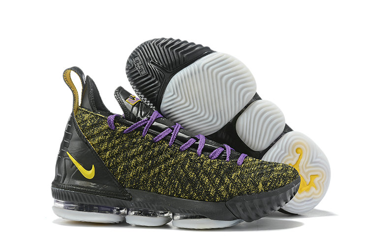 Wholesale Cheap 2019 Cheap Nike LeBron 16 PE Charlotte Hornets Gold Black Purple