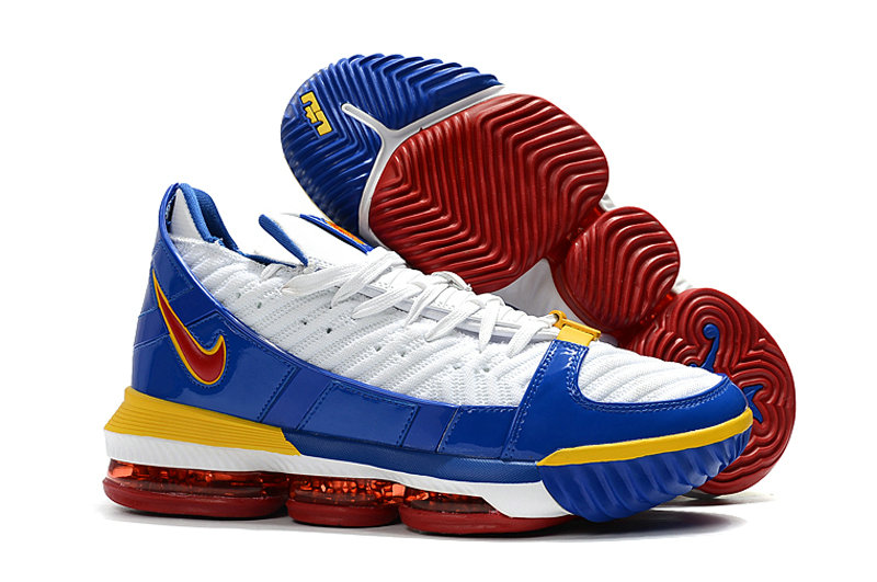 Wholesale Cheap 2019 Cheap Nike LeBron 16 SB Superman CD2451-100 White-Varsity Red-Varsity Royal